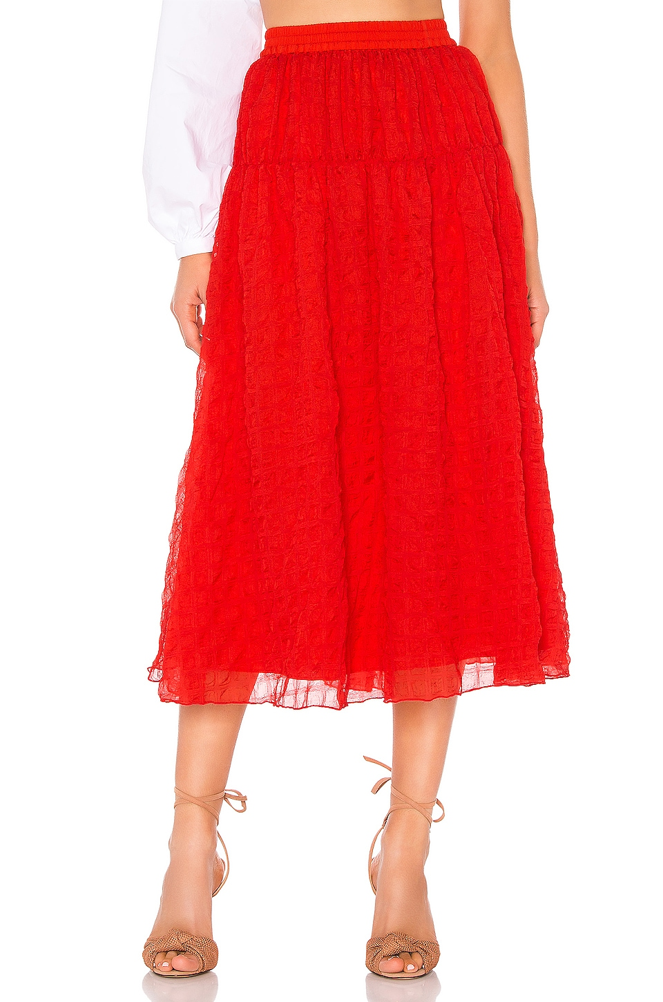 L'Academie The Jacques Skirt in Poppy Red