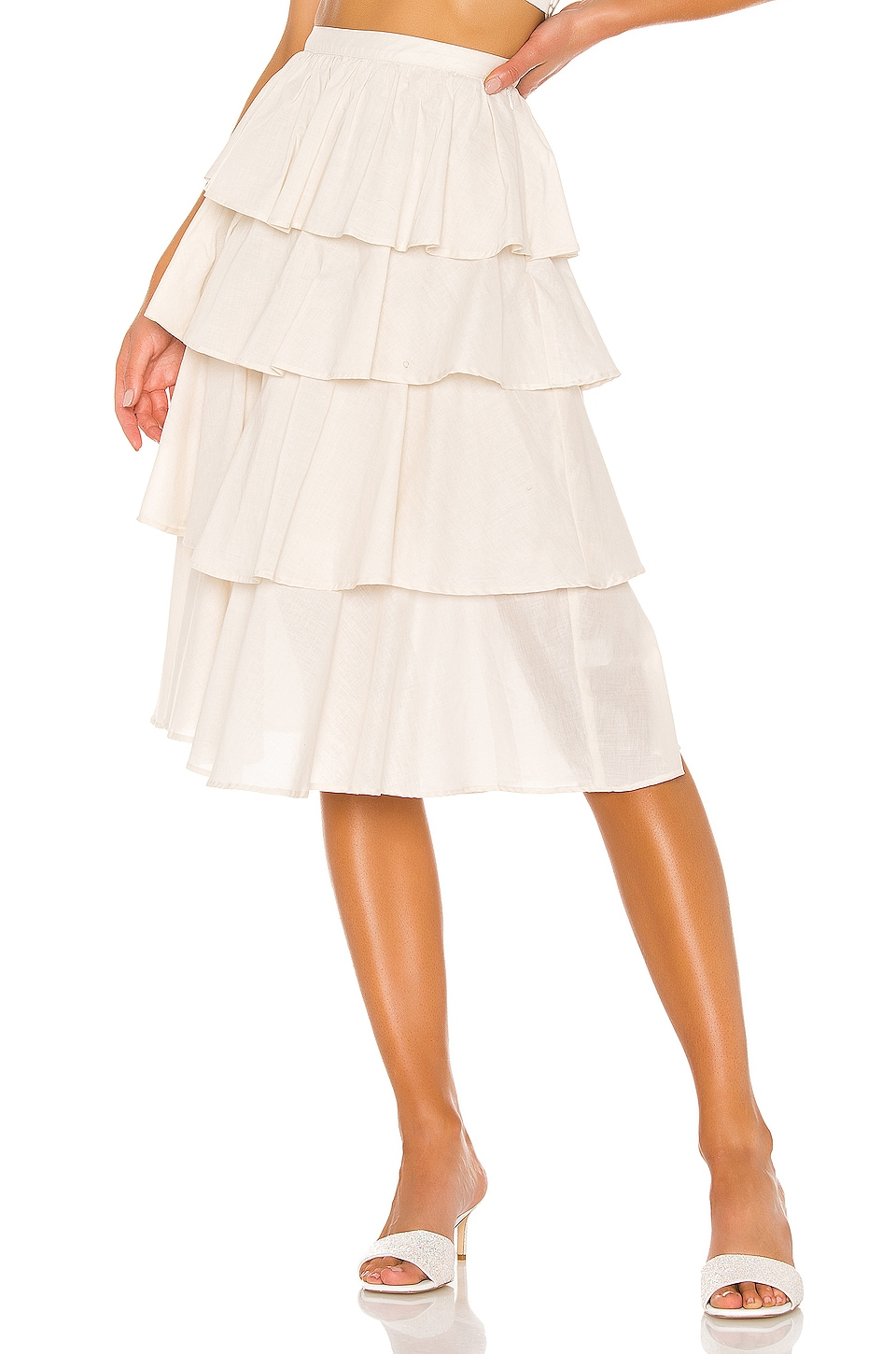 L'Academie The Chloe Skirt in Beige