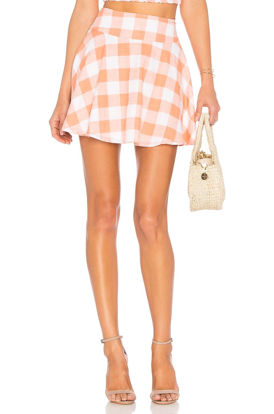 L'Academie The Circle Skirt in Sherbert Gingham