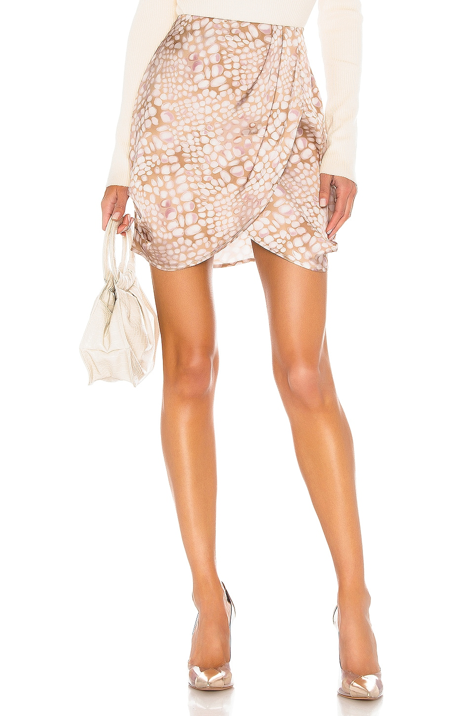 L'Academie The Jenny Mini Skirt in Multi Scale