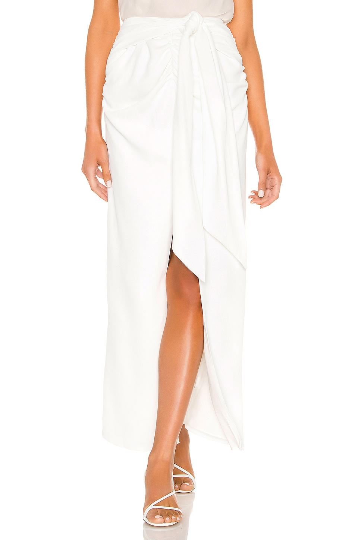 L'Academie The Rachela Maxi Skirt in White