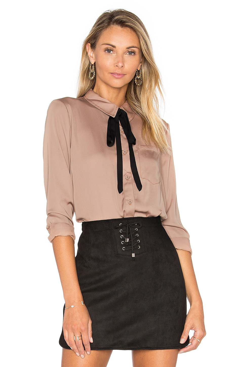 L'Academie The Classic Blouse in Camel