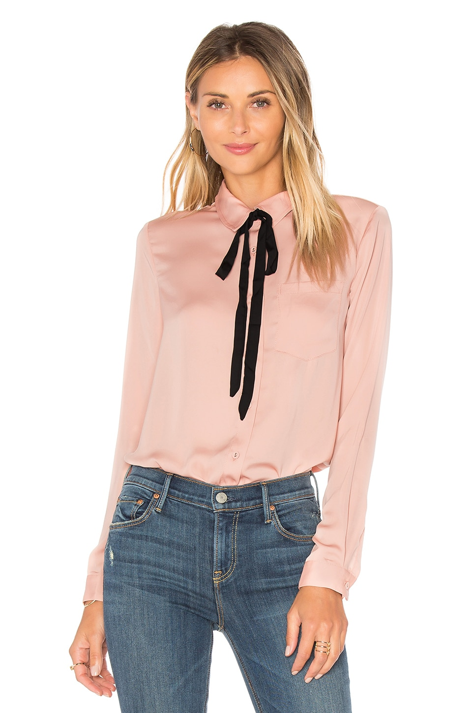 L'Academie x REVOLVE The Classic Blouse in Nude