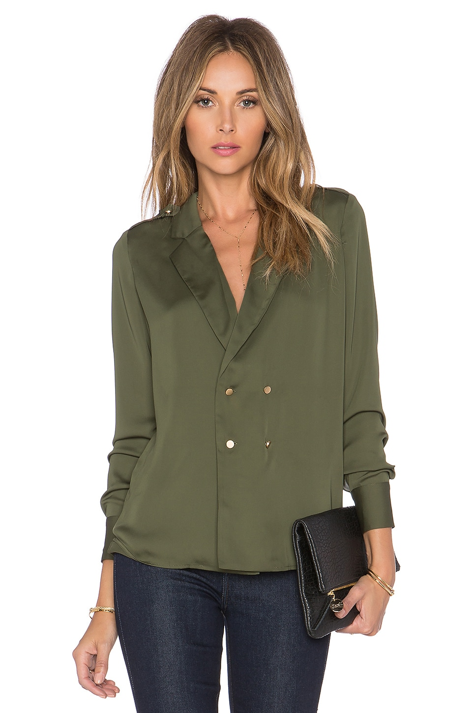 L'Academie The Military Blouse in Army