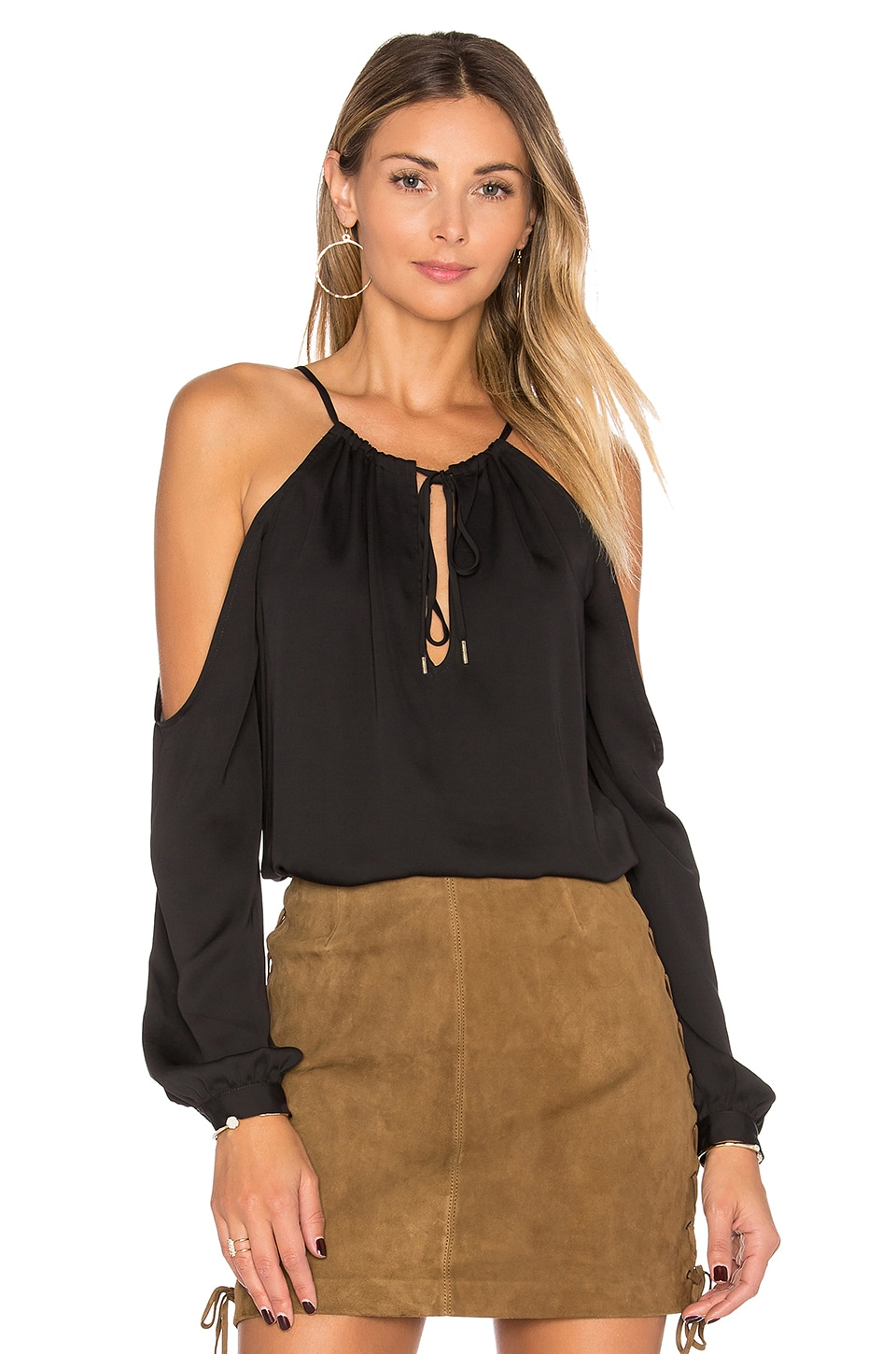 The Deep V Shoulder Top by L'Academie