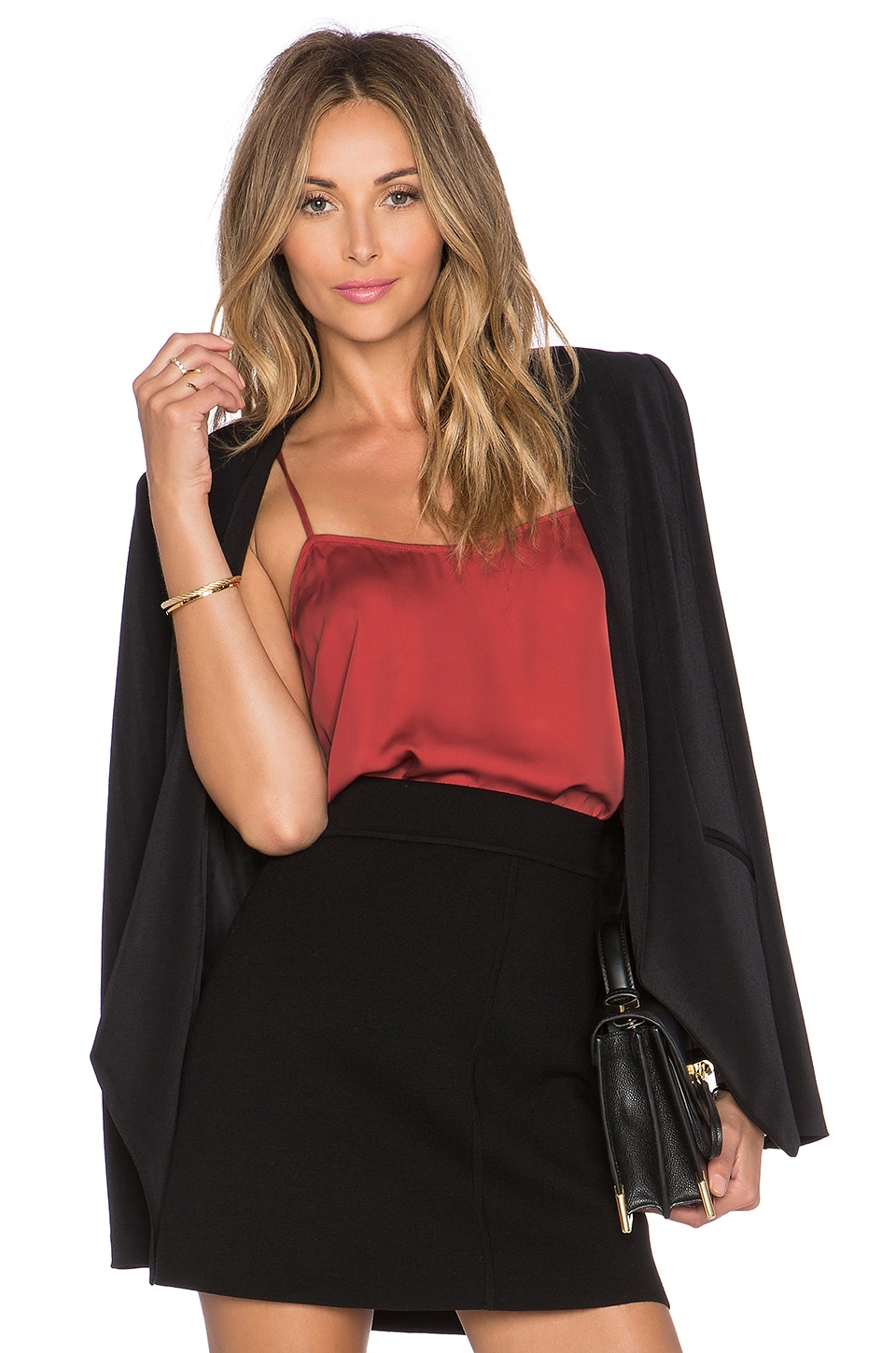 L'Academie The Cami Blouse en Bordeaux