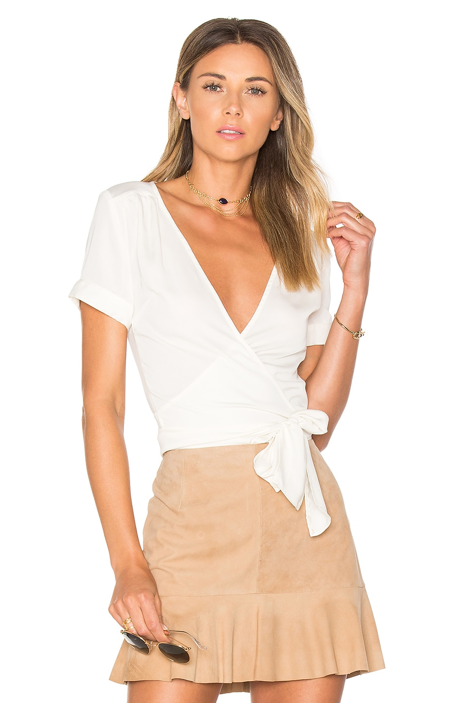 The Short Sleeve Wrap Blouse