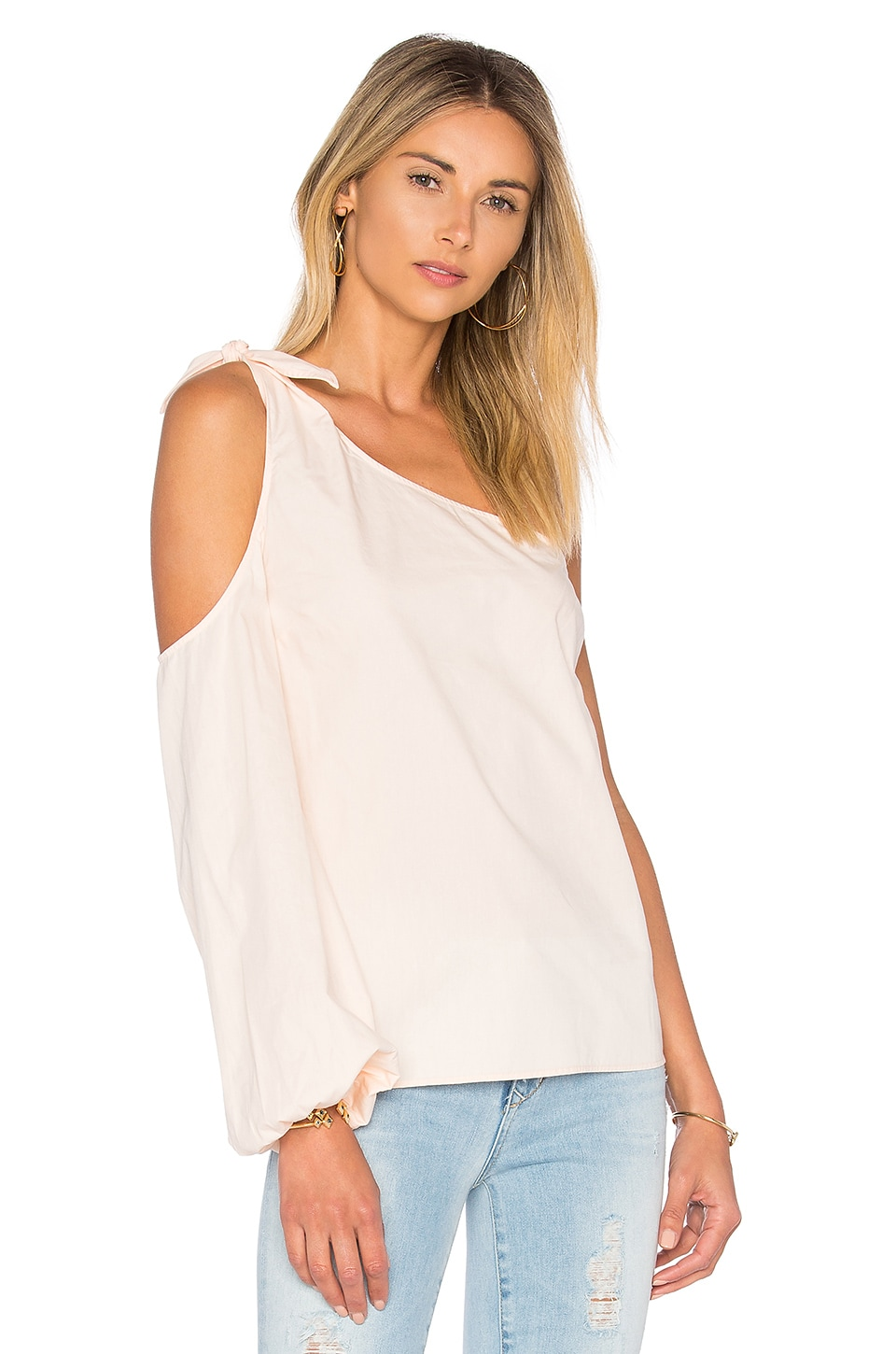 x REVOLVE The Asymmetric Shoulder Blouse by L'Academie