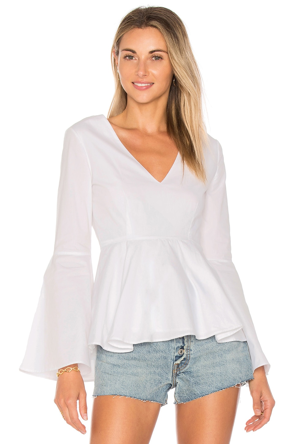 L'Academie x REVOLVE The Statement Top in White