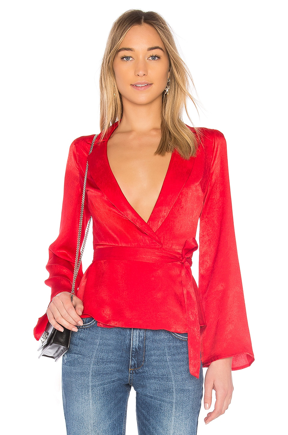 L'Academie The Russell Blouse en Red