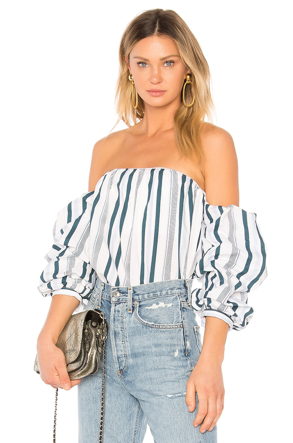 L'Academie The Puff Sleeve in Indio Stripe