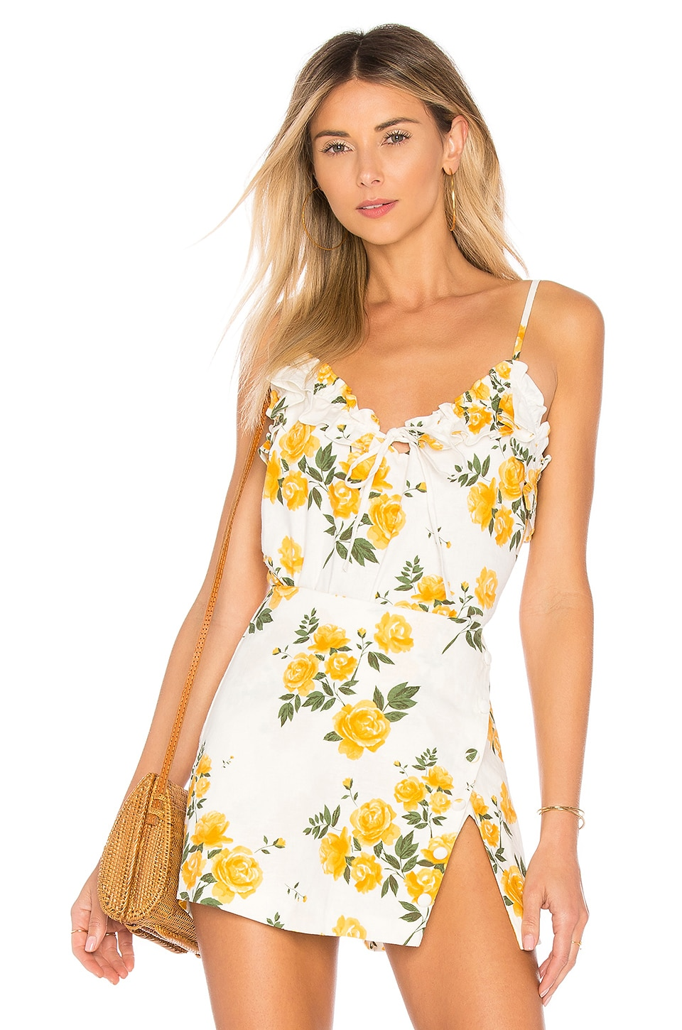 L'Academie The Flora Top in Yellow Rose