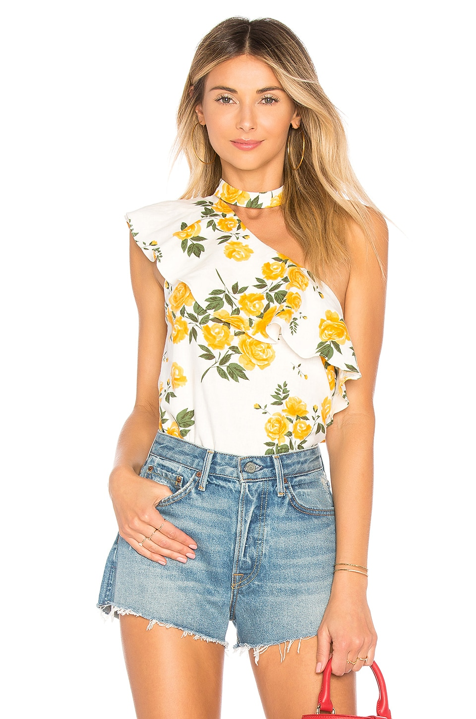 L'Academie The Seberg Top in Yellow Rose