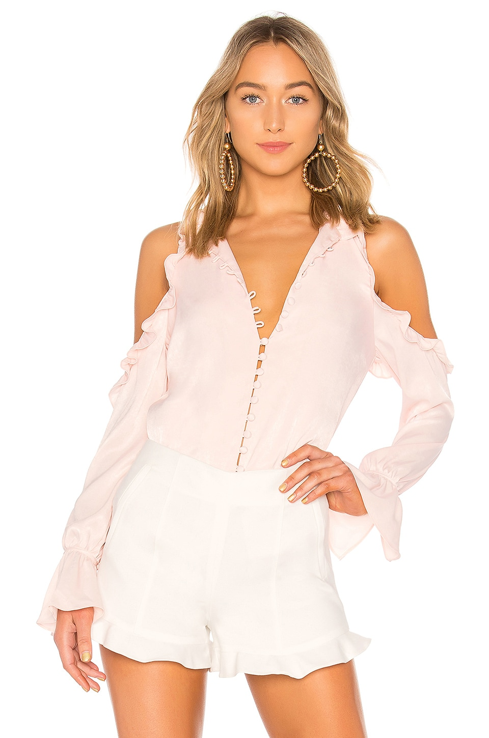 L'Academie The Bell Button Up in Blush