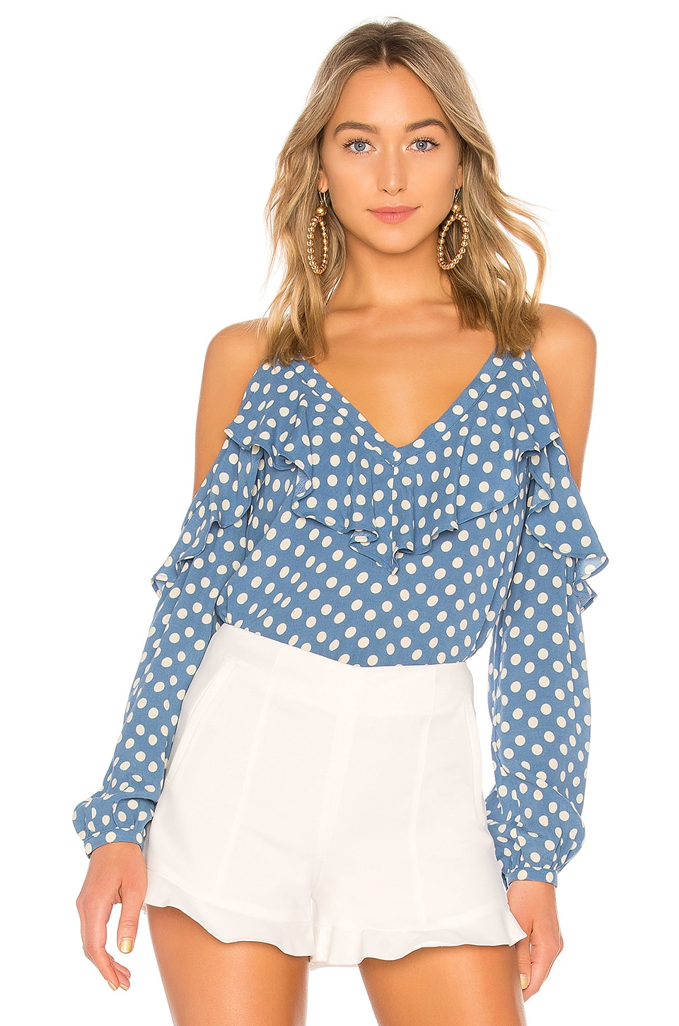 L'Academie The Paisley Blouse in Blue Dot