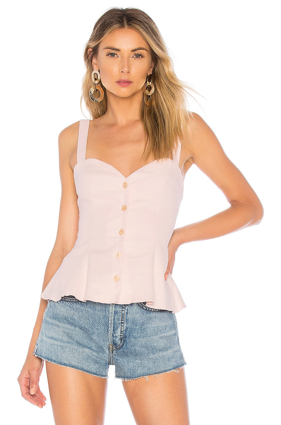 L'Academie The Brasilia Top in Light Pink