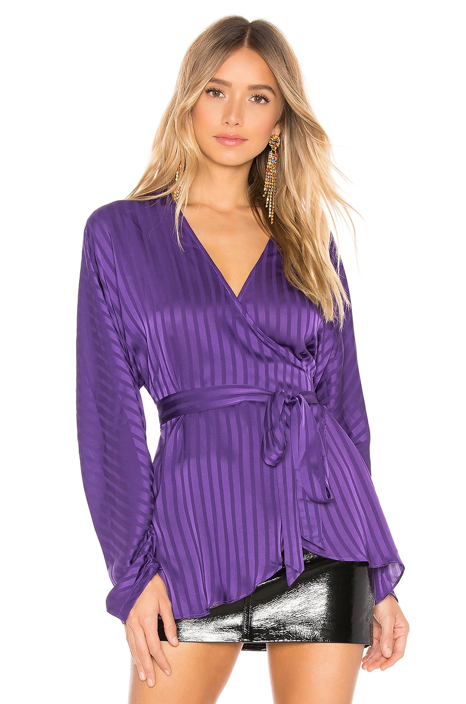 L'Academie The Kate Blouse in Violet Indigo