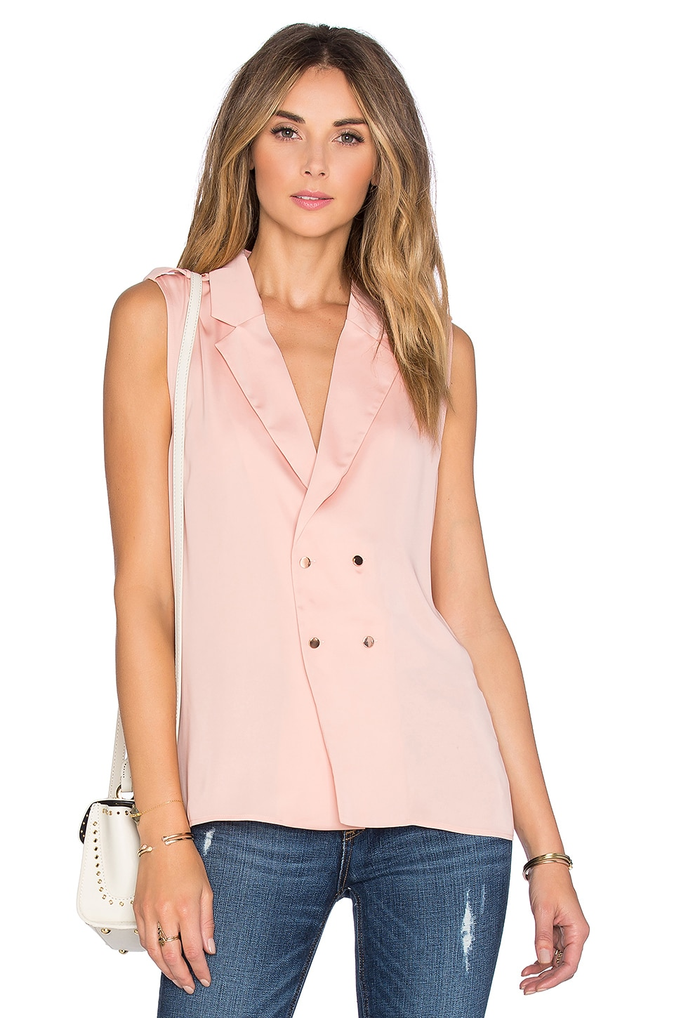 L'Academie The Military Blouse en Blush