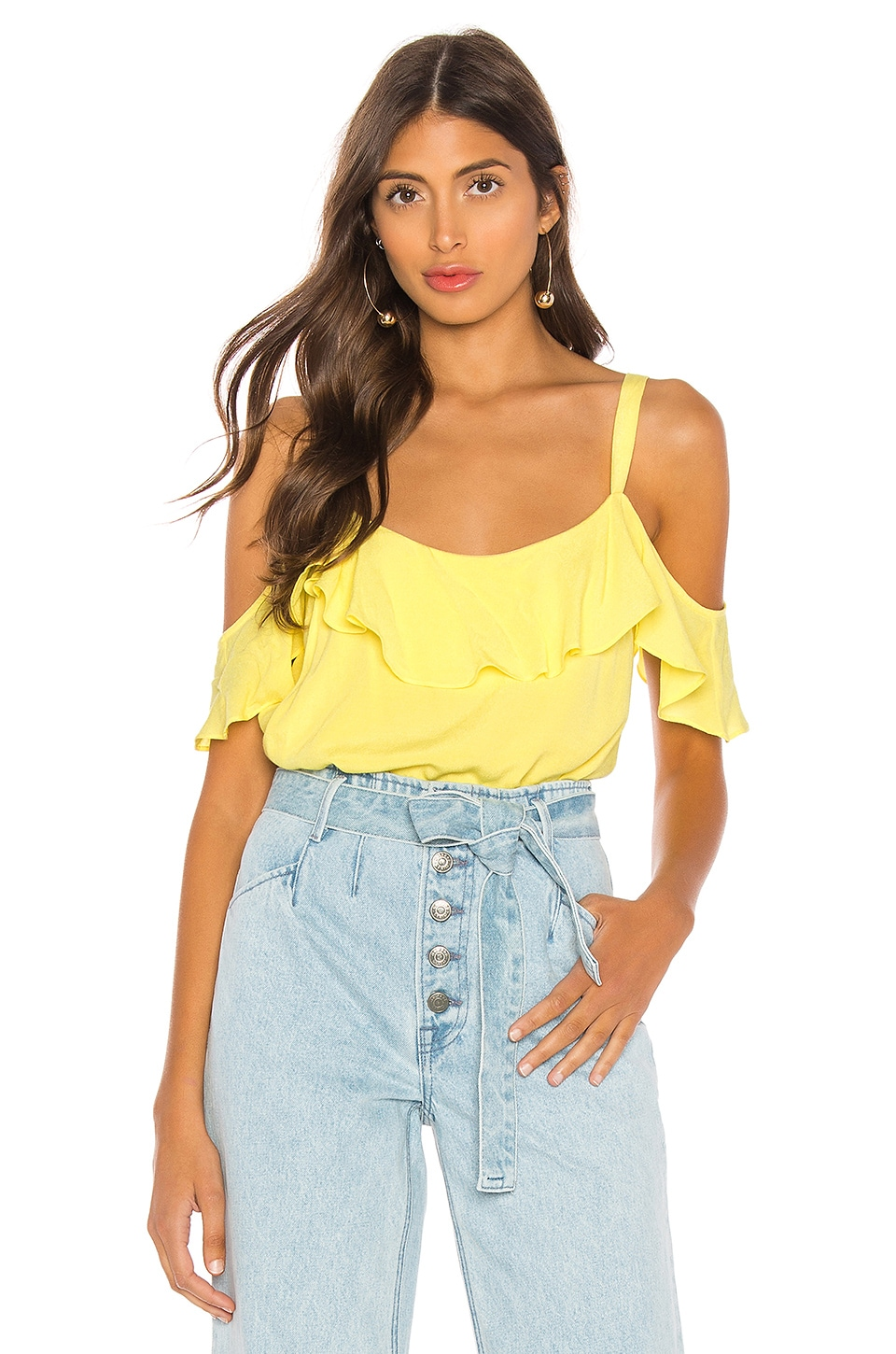 L'Academie The Isla Blouse in Pale Yellow