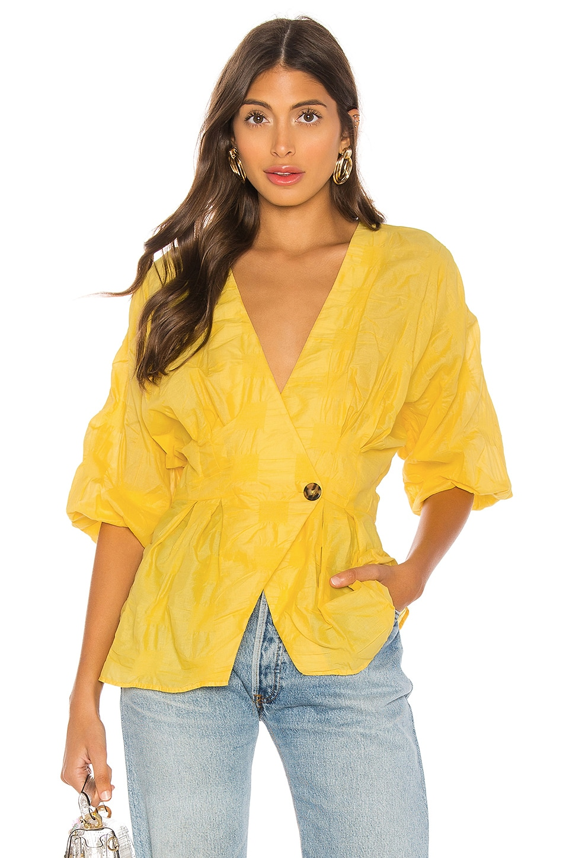 L'Academie The Michela Blouse in Lemon Yellow