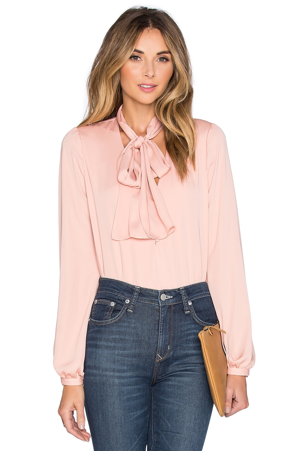 L'Academie The 70's Blouse in Blush