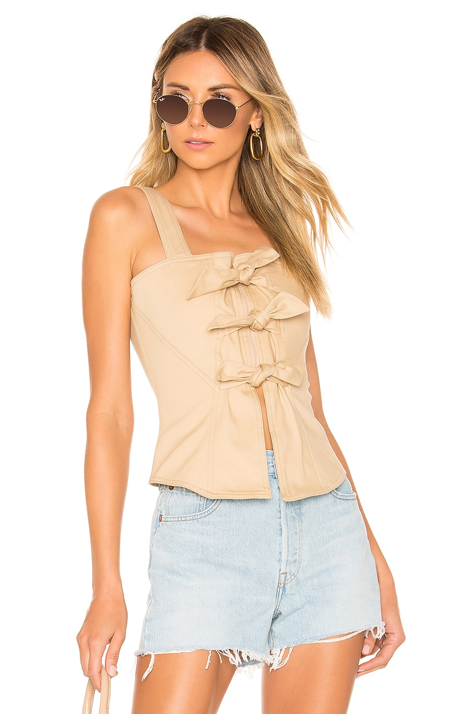 L'Academie The Lana Top en Beige