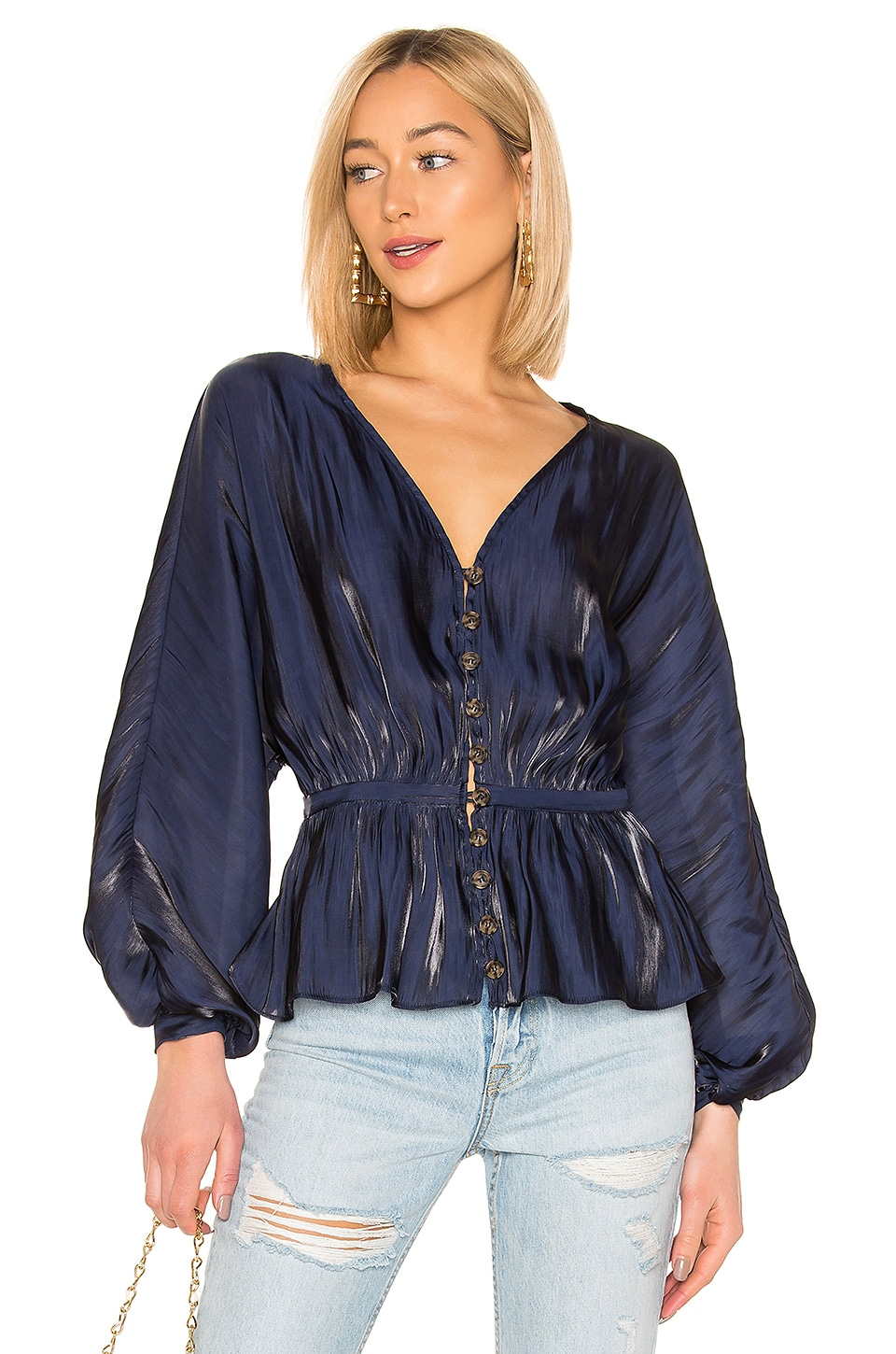 L'Academie The Diane Blouse in Eclipse
