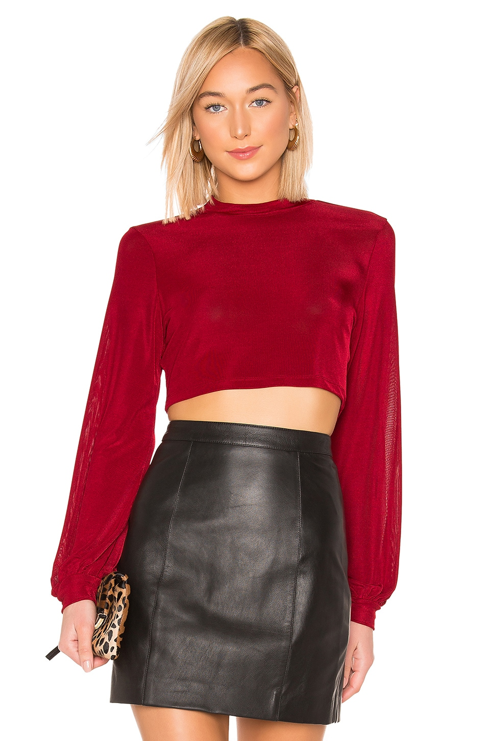 L'Academie The Marcia Top in Persian Red