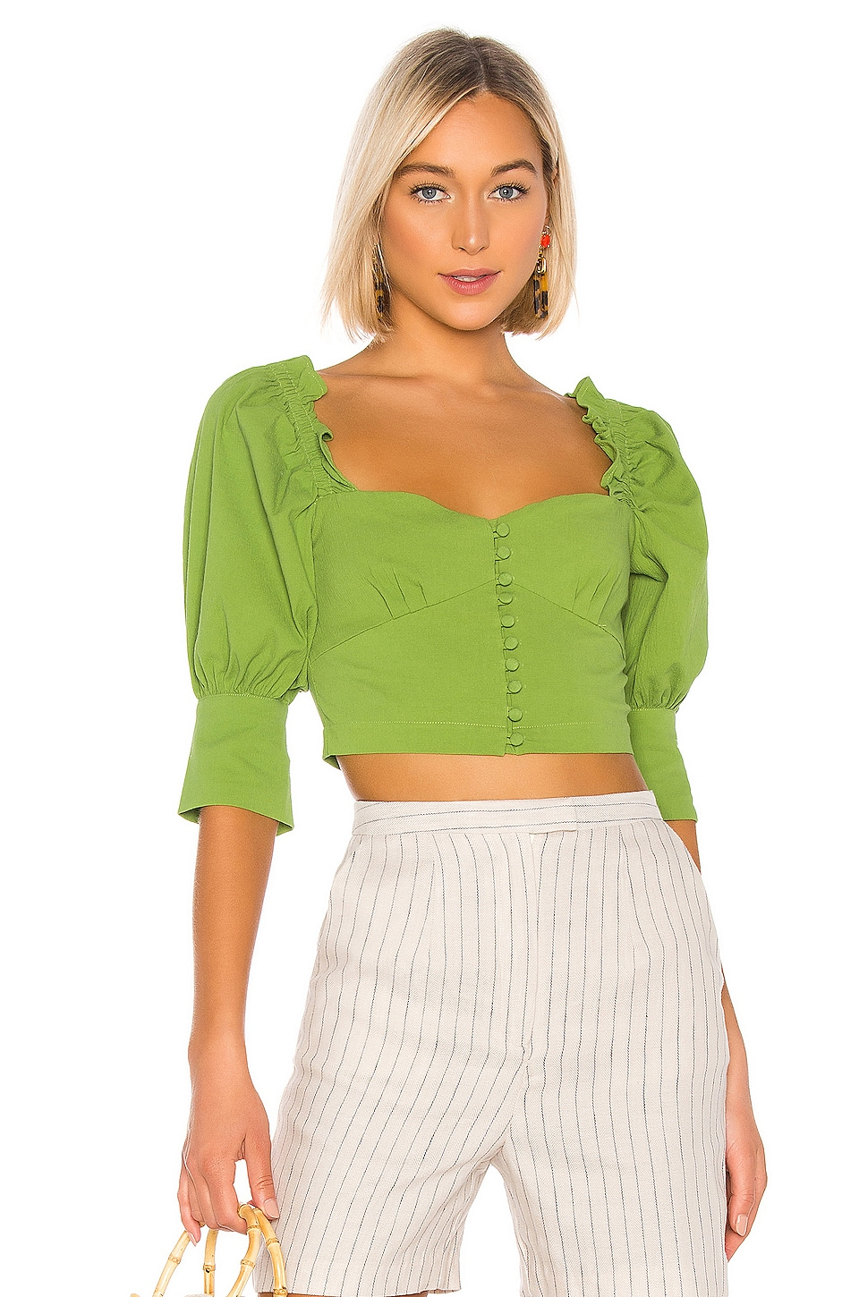 L'Academie The Babette Top in Moss