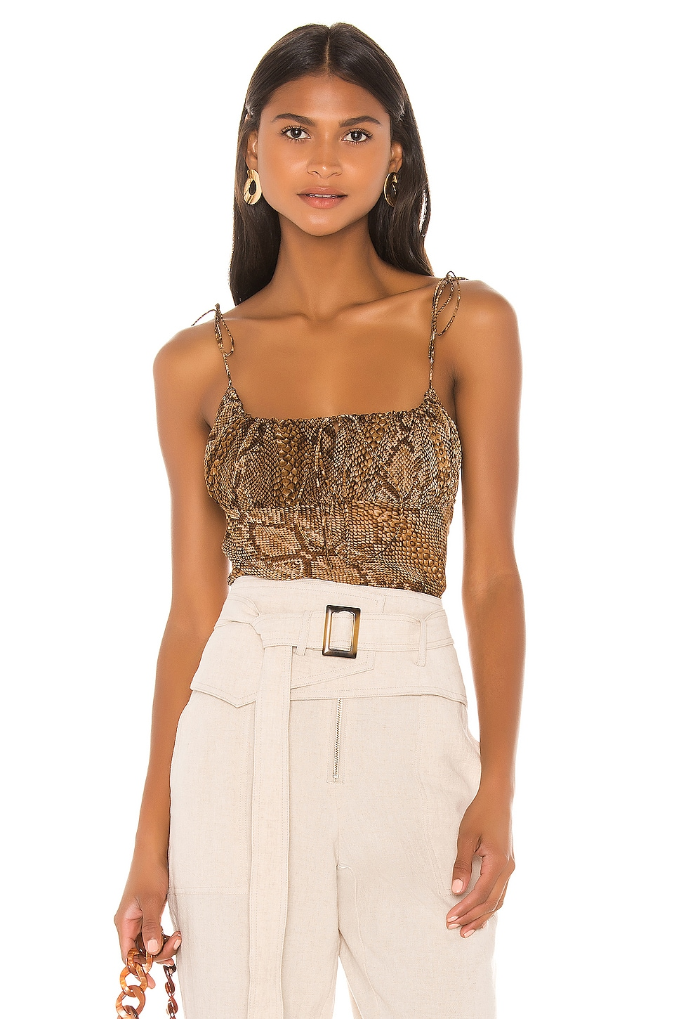 L'Academie The Aylah Top in Snake