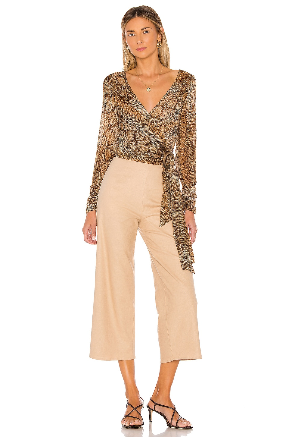 L'Academie The Aman Top in Snake