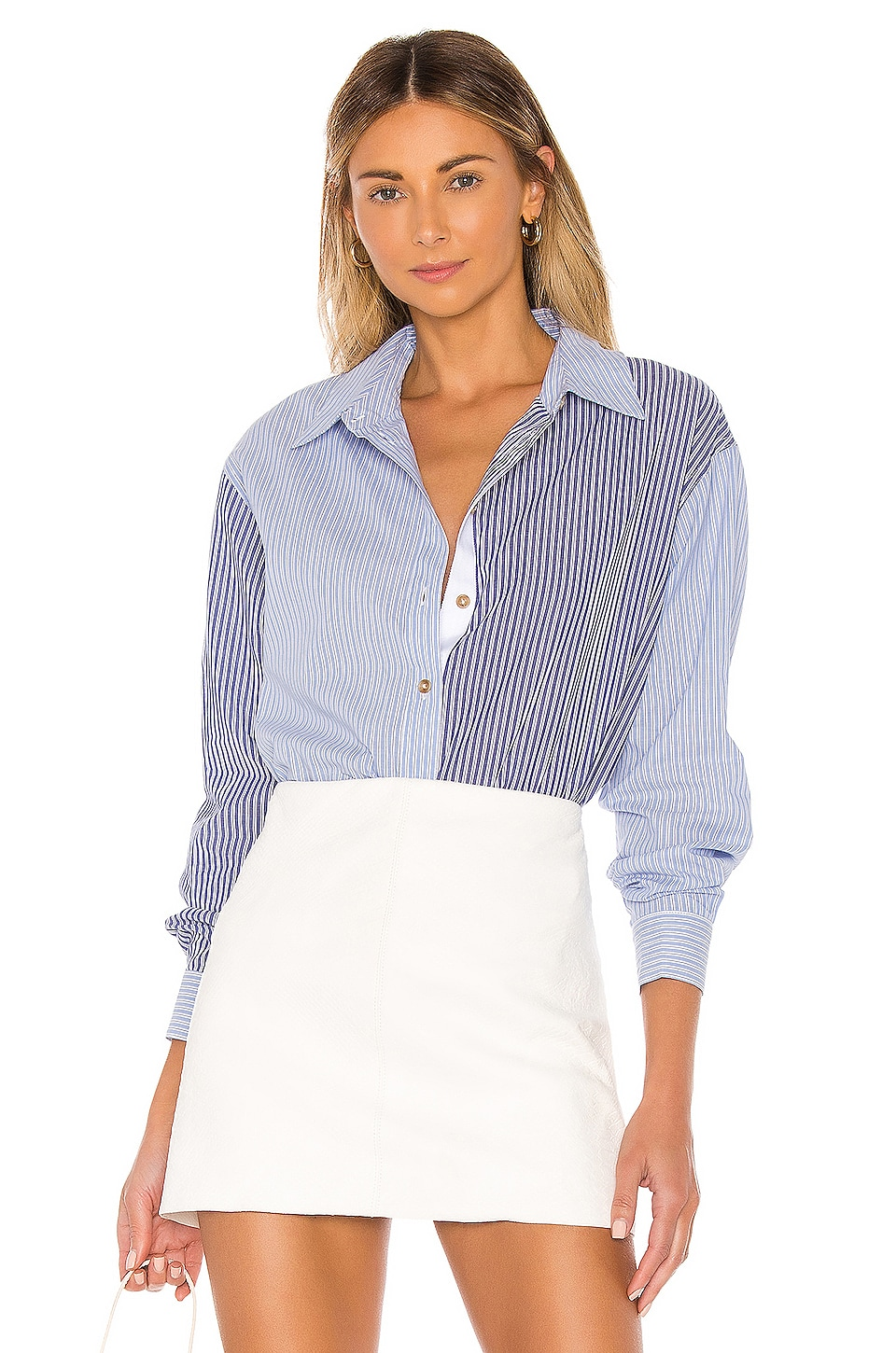 L'Academie The Blaise Top in Blue & White