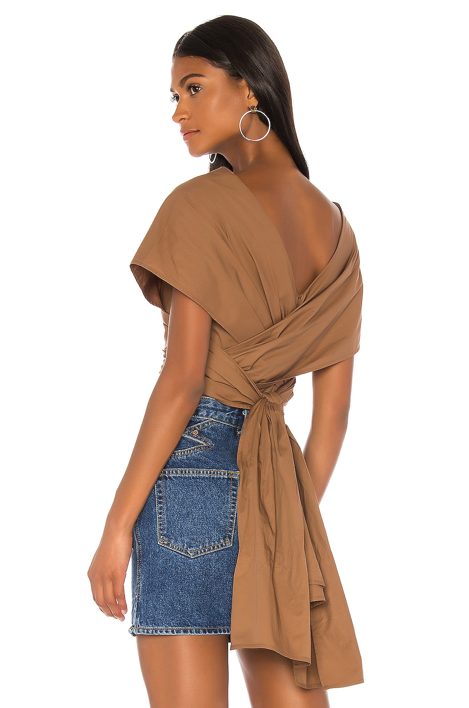 L'Academie The Fantasia Top en Pecan Brown