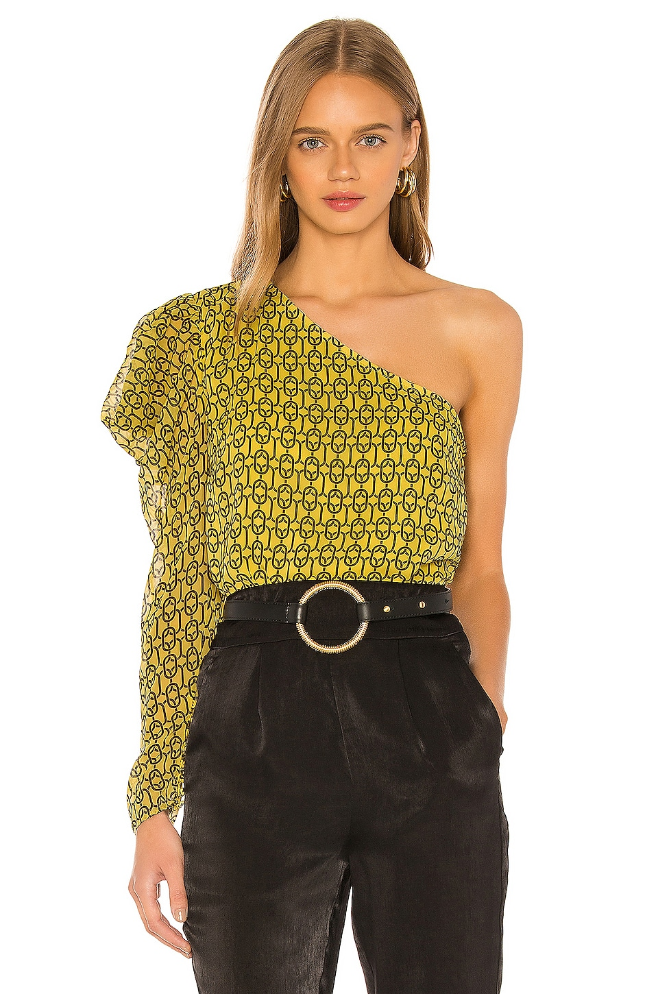 L'Academie The Morgane Top in Gold Chain