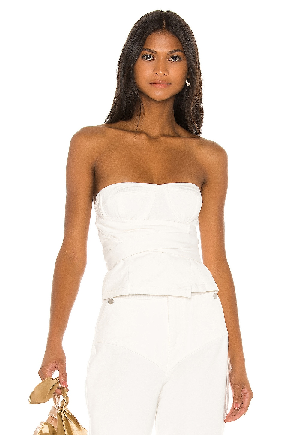 L'Academie The Justine Top in White