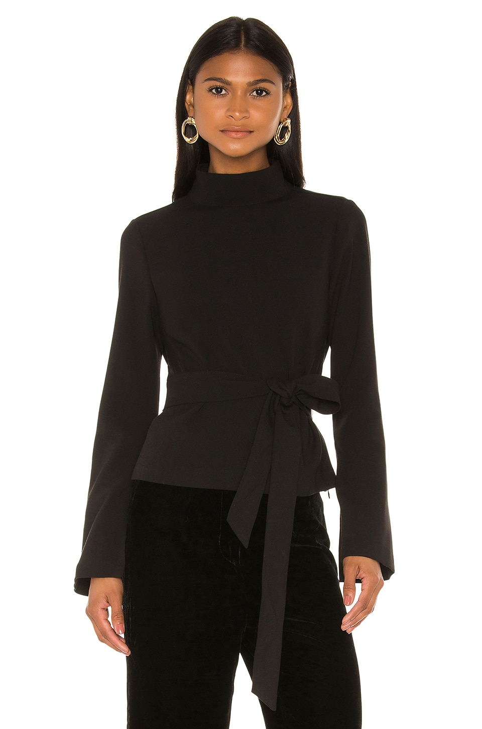 L'Academie The Fabiola Top in Black
