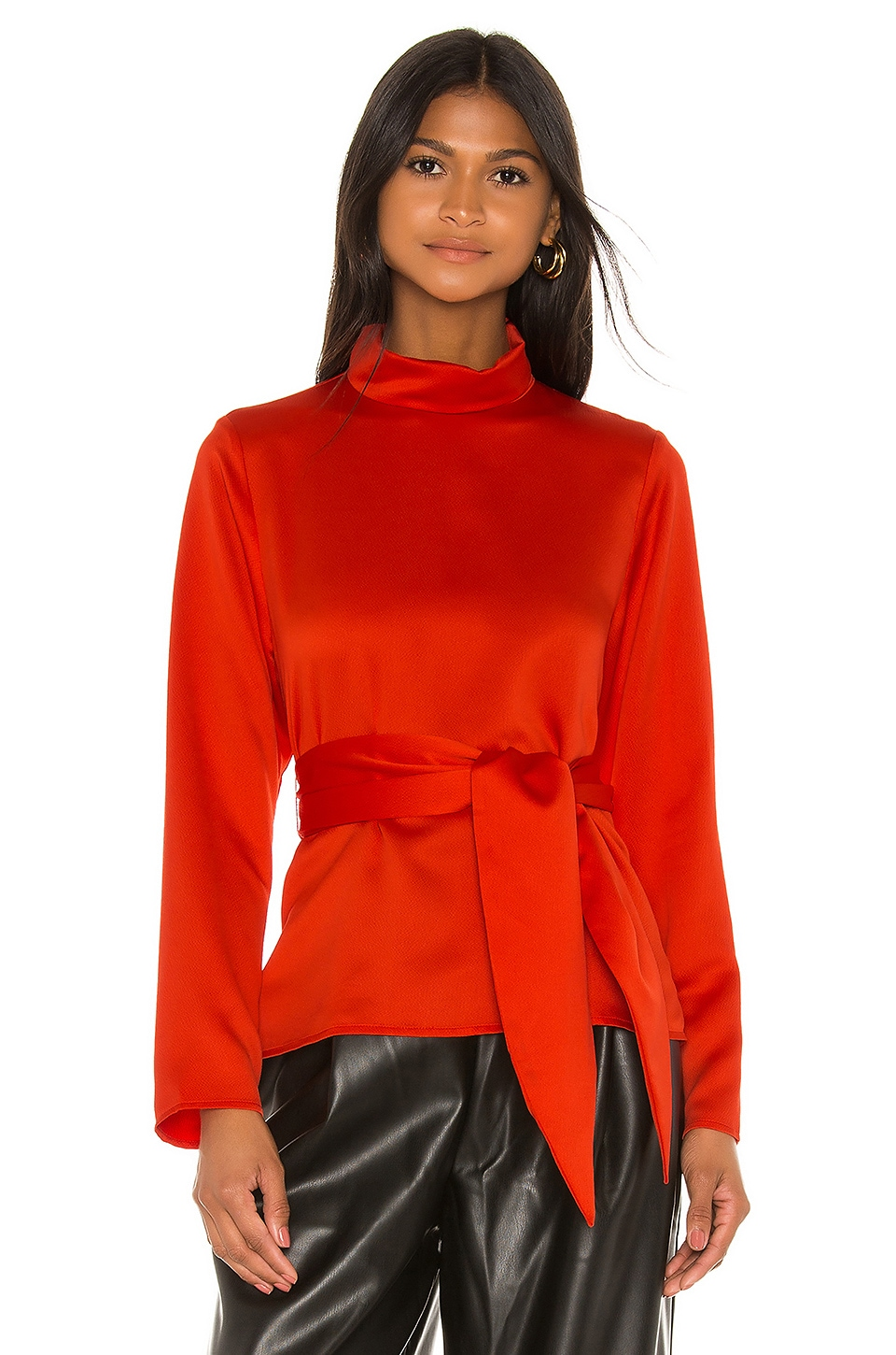L'Academie The Ninette Top en Fiery Red