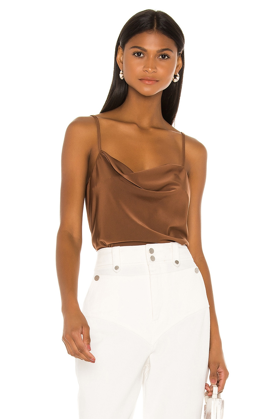 L'Academie Katlyn Top in Brown