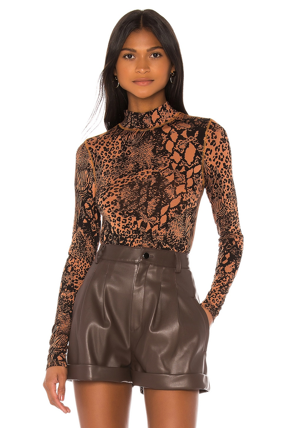 L'Academie The Zelie Bodysuit in Jungle Animal
