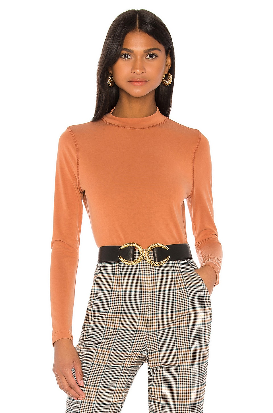L'Academie The Mirla Top in Terracotta