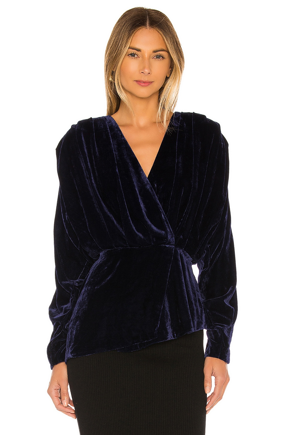 L'Academie The Benae Blouse in Navy