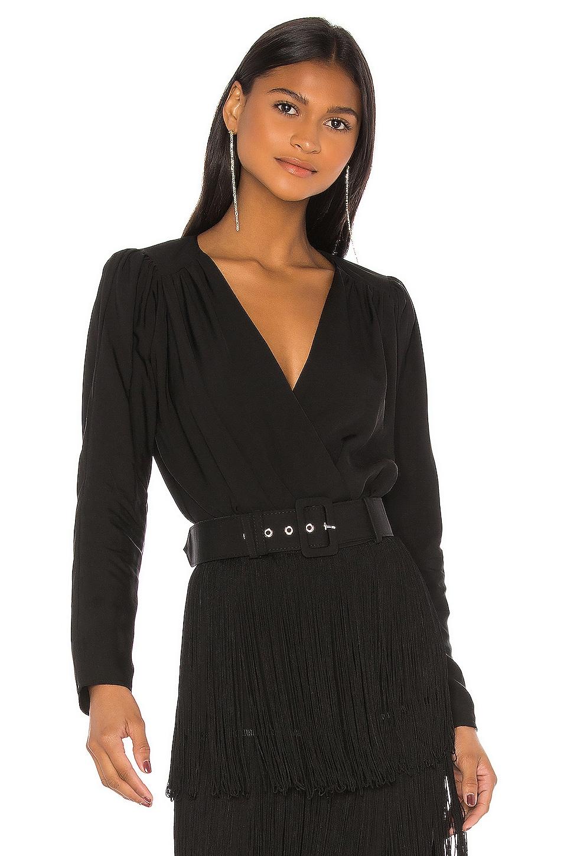 L'Academie The Victoire Bodysuit in Black