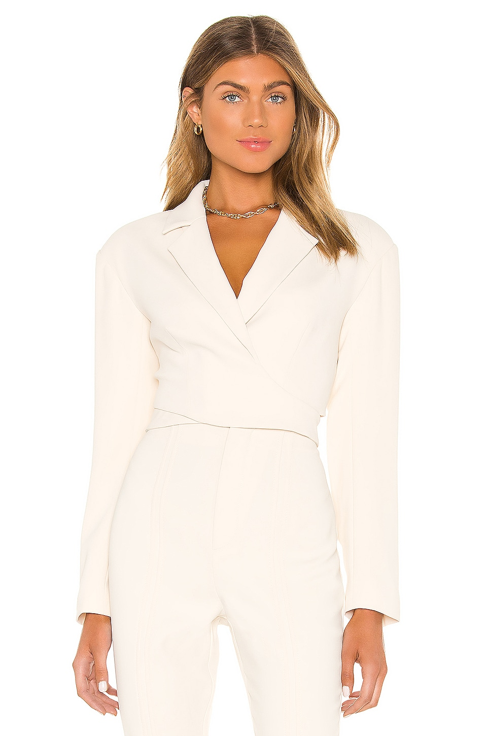 L'Academie The Georgine Blazer in Ivory