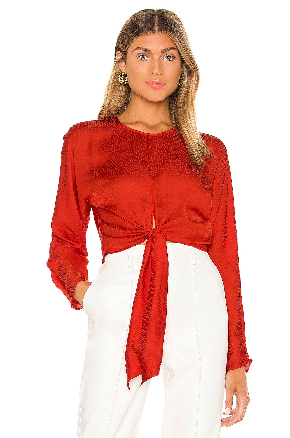 L'Academie The Amaia Top in Fiery Red