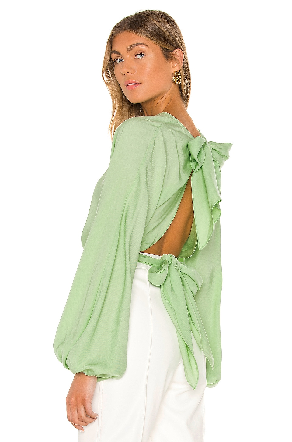 L'Academie The Dorothei Top in Nile Green