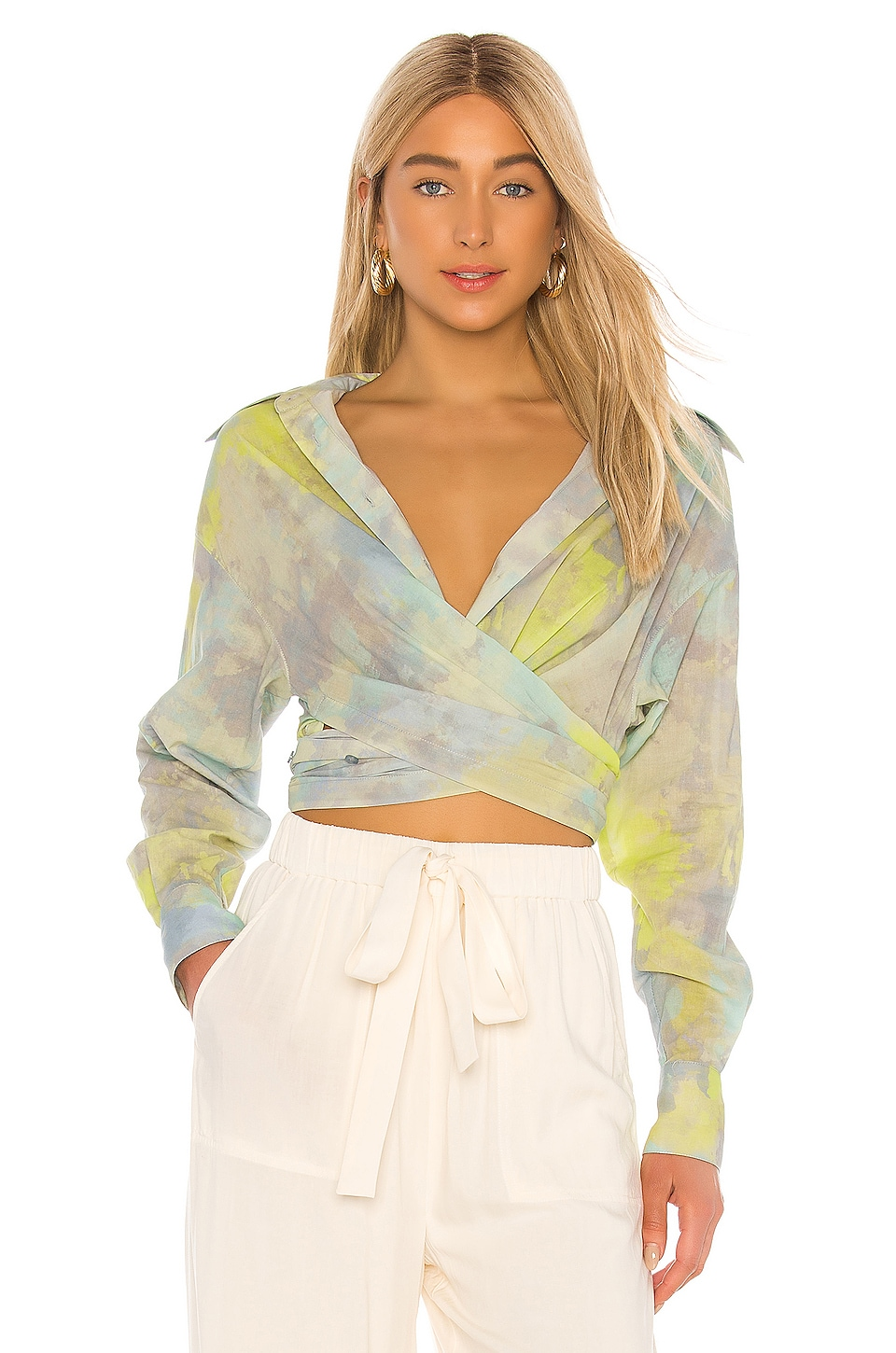 L'Academie The Mirielle Top en Multi Watercolor