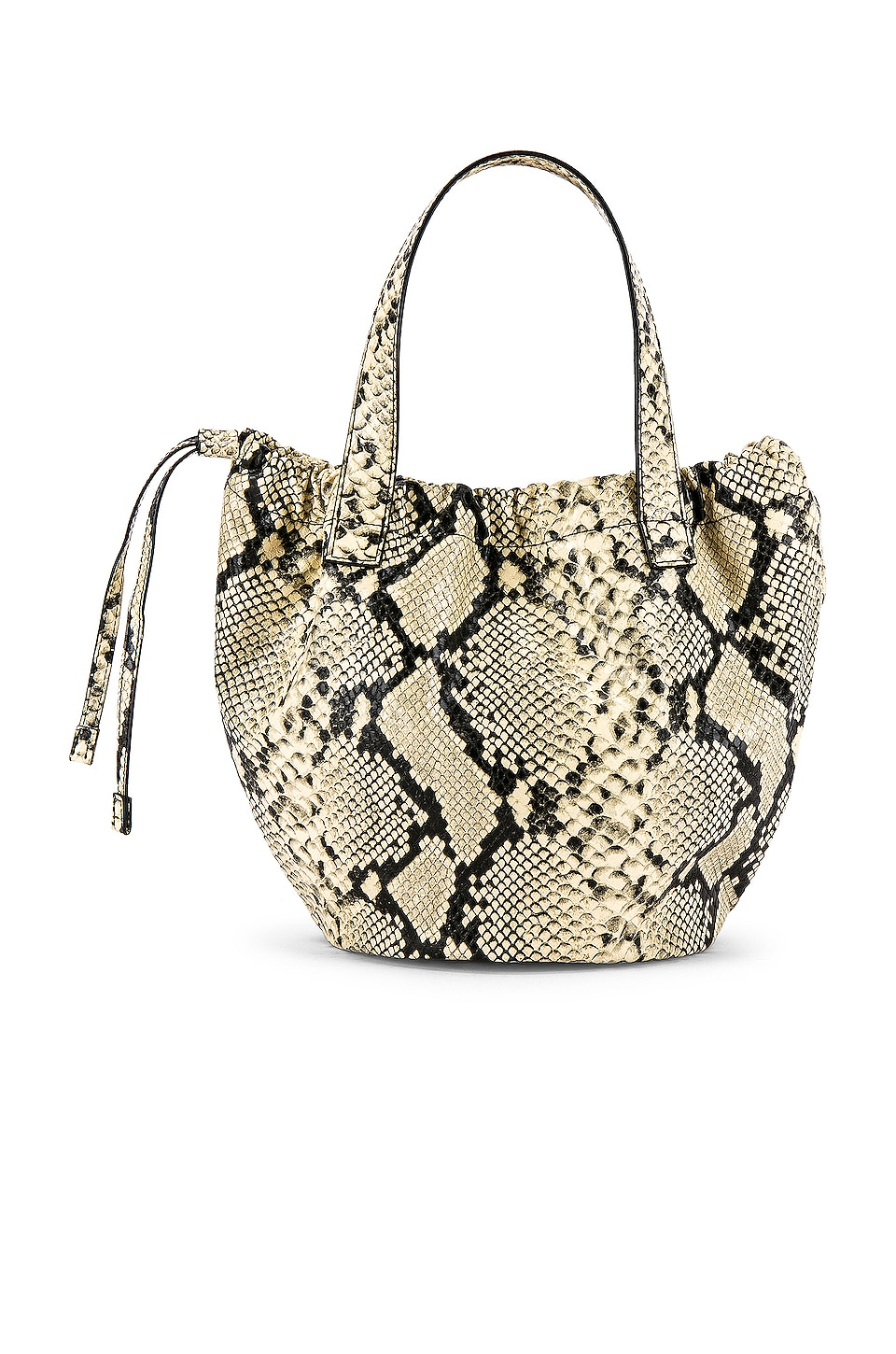 L'Academie Jordan Bucket Bag in Snake