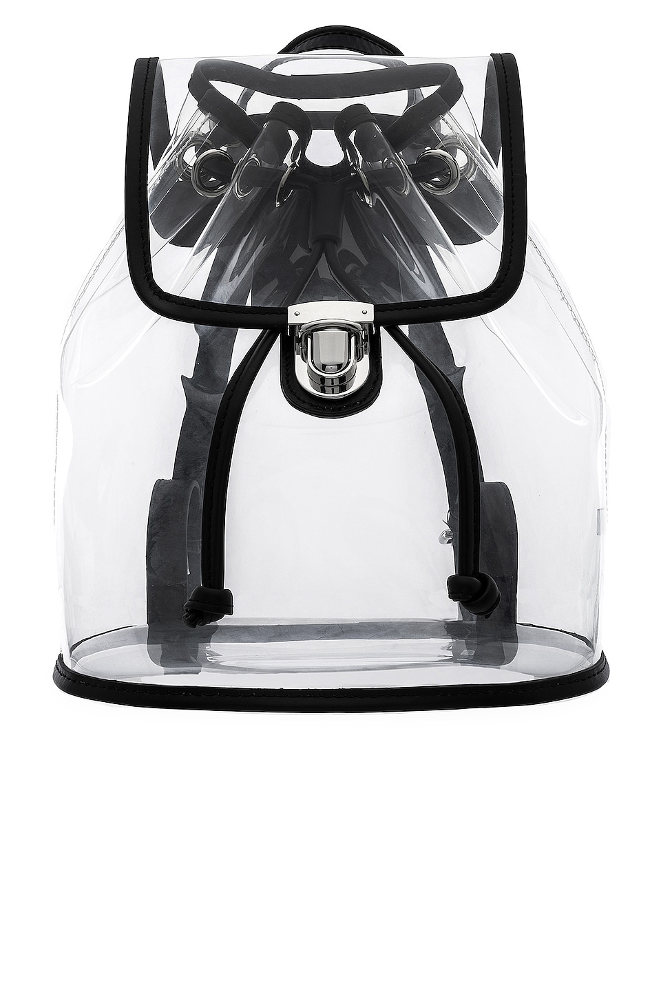 L'Academie Kelly Drawstring Backpack in Clear