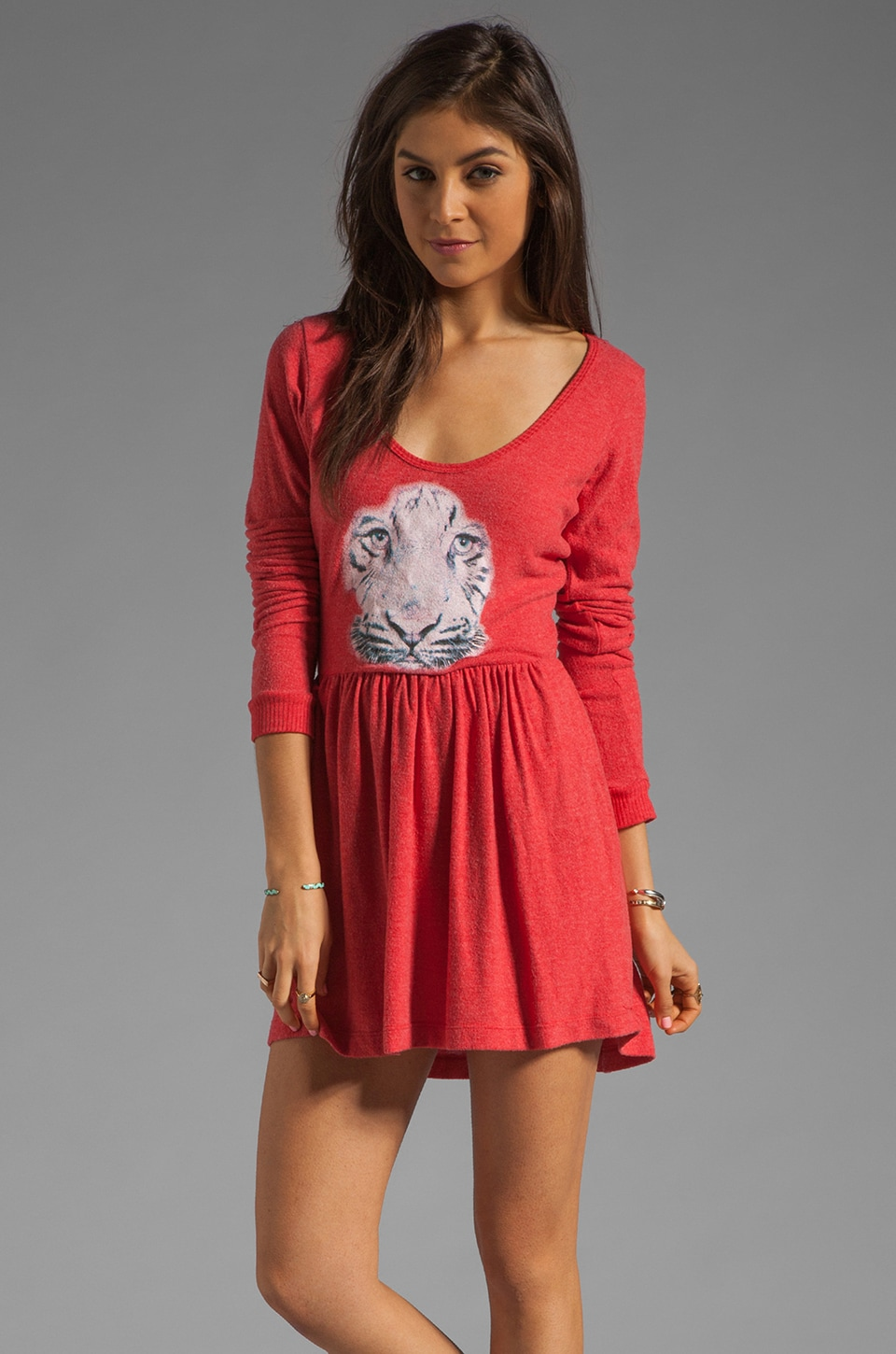 Local Celebrity Tiga Face Dress is Red