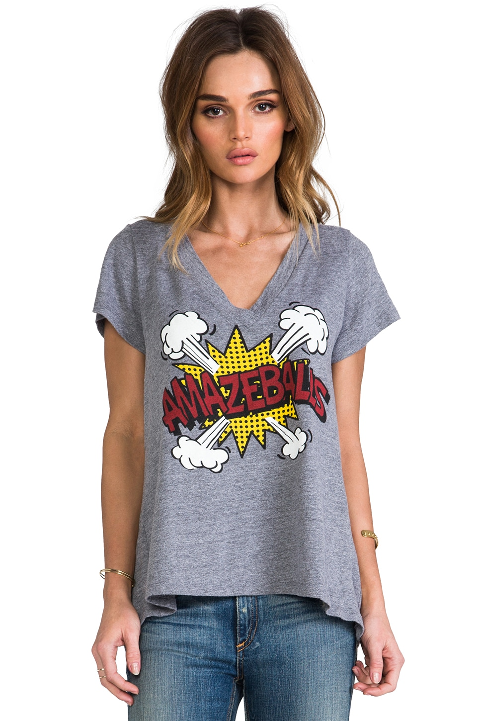Local Celebrity Amazeballs Jovi Tee in Heather Grey